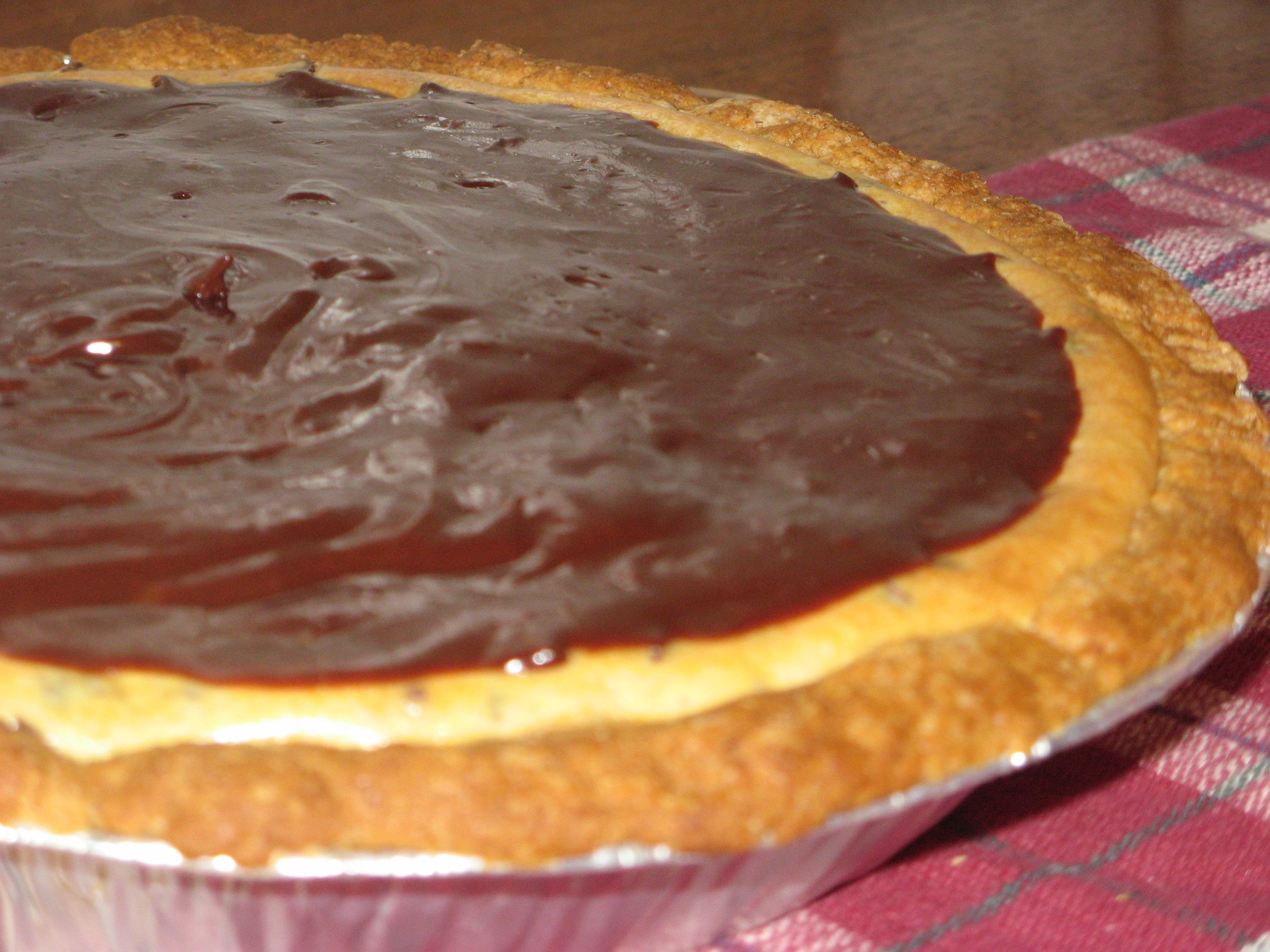 Chocolate Chip Cheesecake Pie